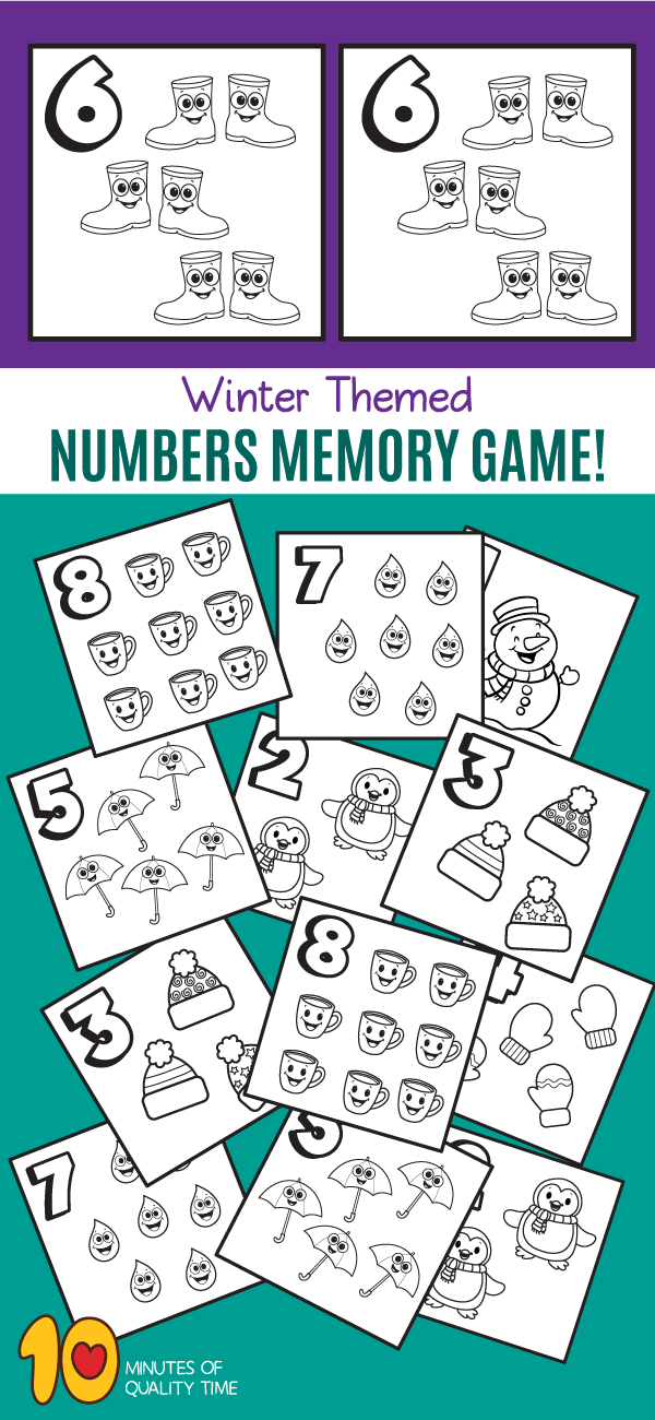 winter themed counting worksheets