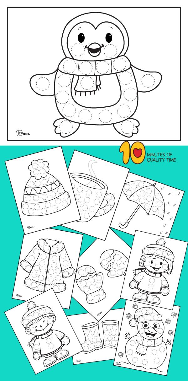 Winter printables for preschool children