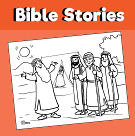 Abraham and the three angels coloring page