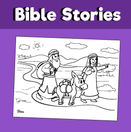 Abraham's Journey to the Promised Land Coloring Page