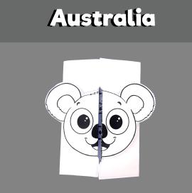 Australia Day Koala Folding Card
