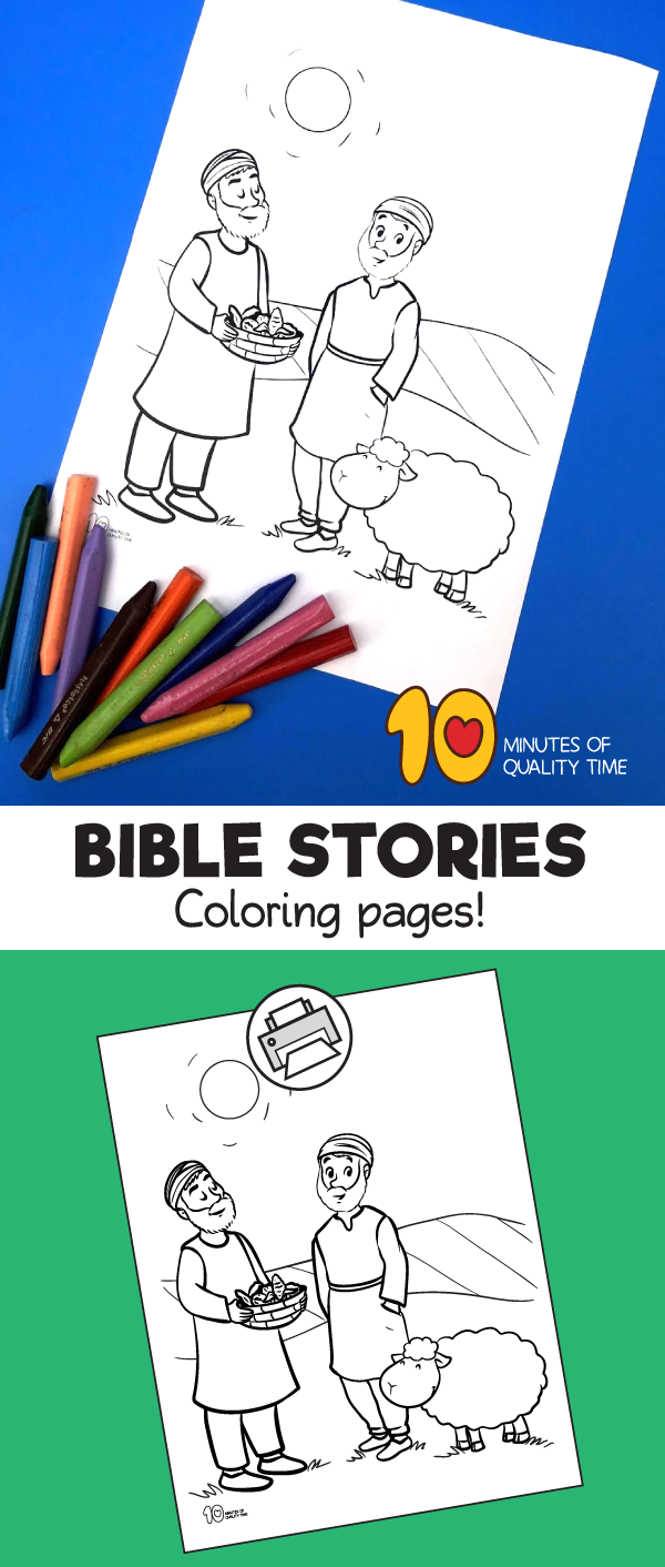 cain and abel preschool coloring pages