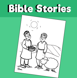 Cain And Abel Coloring Page 10 Minutes Of Quality Time