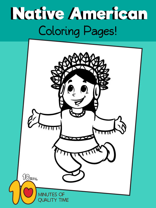 indian colouring pages for kindergarten