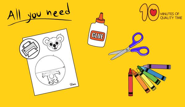 koala bear craft template