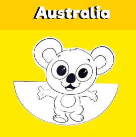 Dancing Koala Paper Craft