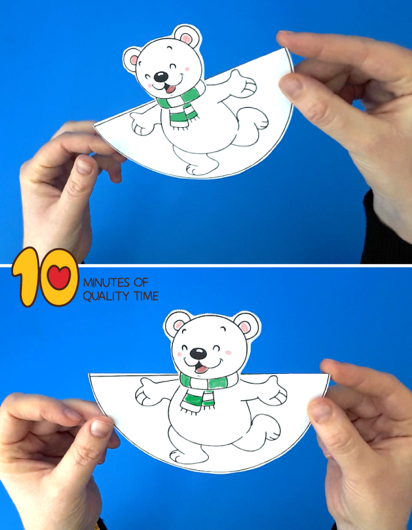 polar bear craft template