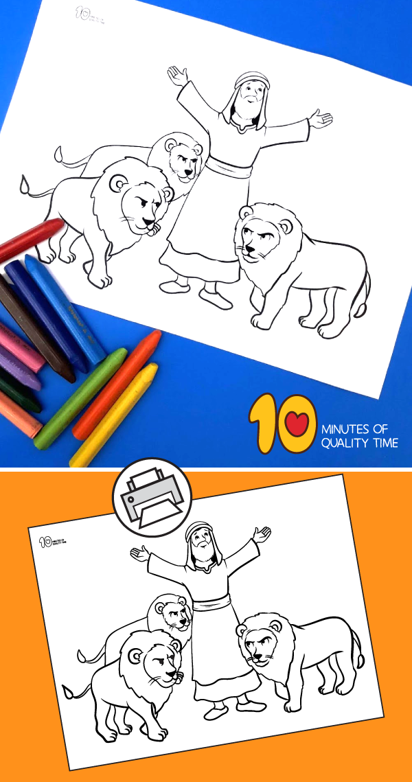 daniel and the lions den preschool coloring pages