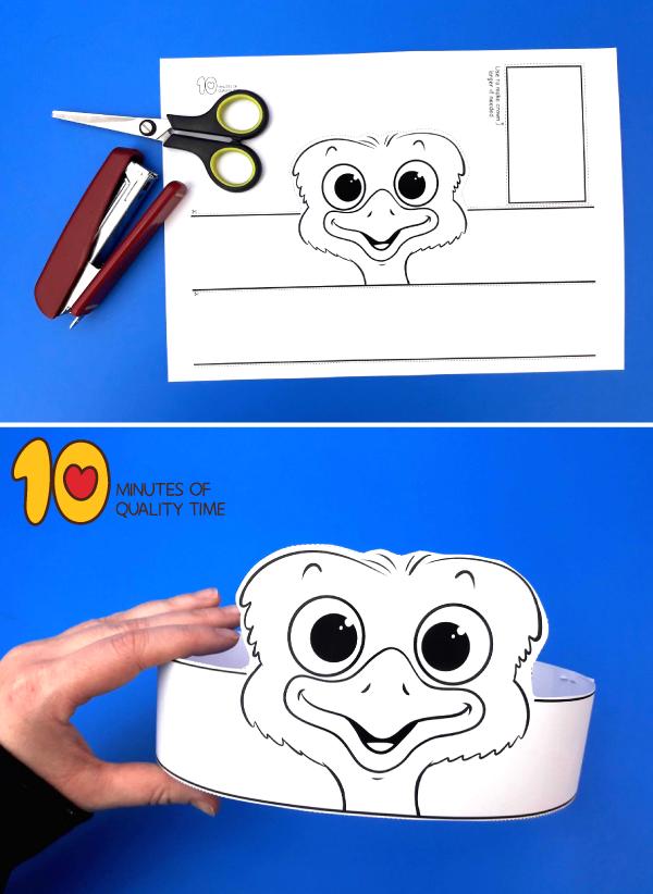 emu craft for preschoolers