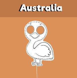Emu Paper Mask