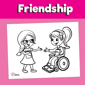 Girl in Wheelchair Coloring Page