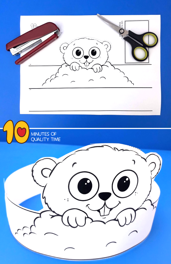groundhog craft preschool