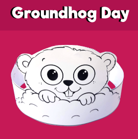 Groundhog Day Paper Crown