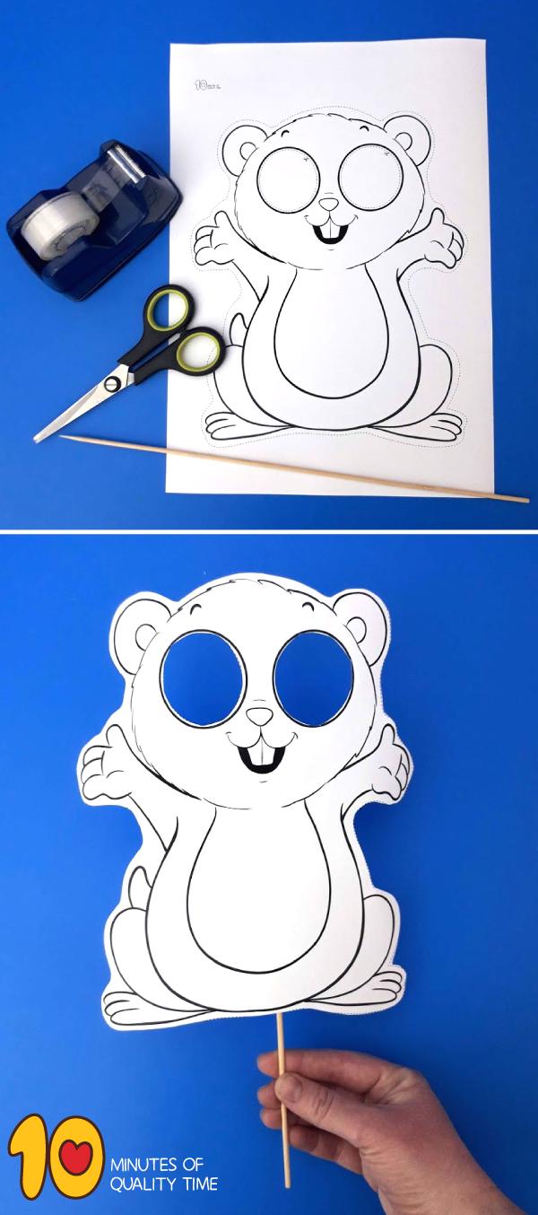 groundhog craft template