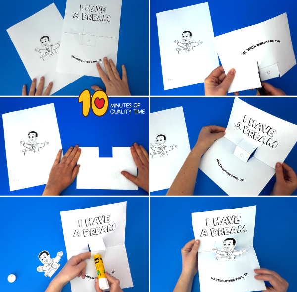 martin luther king crafts for kindergarten