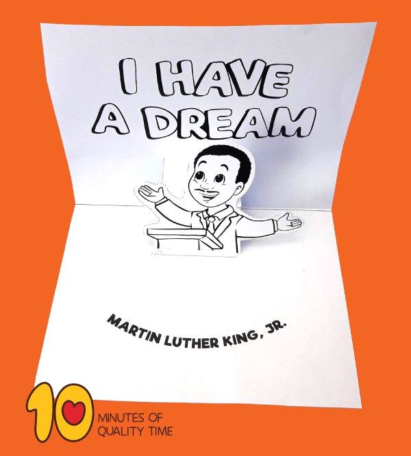 martin luther king crafts for toddlers