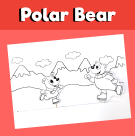Ice Skating Polar Bears Craft
