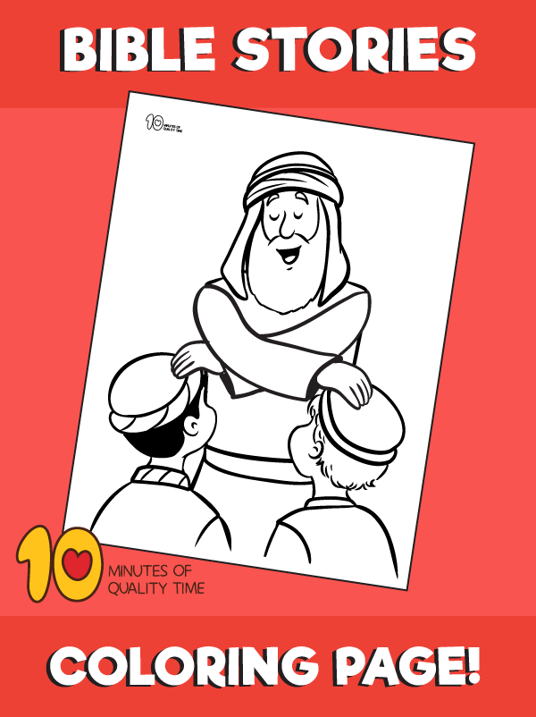 Jacob Blessing The Sons Of Joseph Coloring Page 10