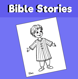 Joseph and the Coat of Many Colors Coloring Page