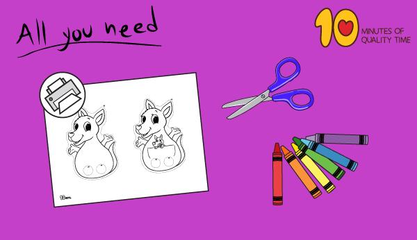 kangaroo craft template