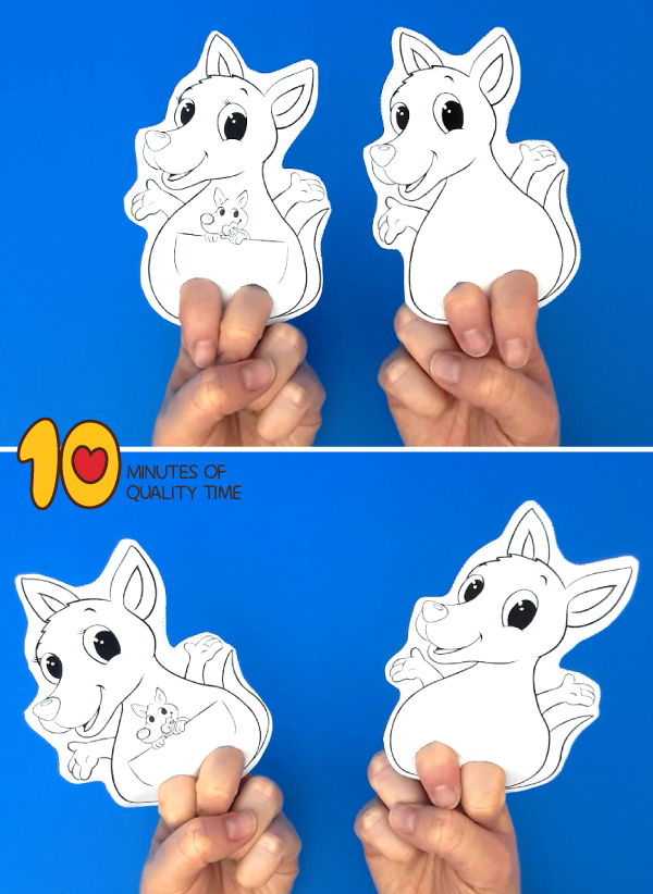 kangaroo craft for toddlers