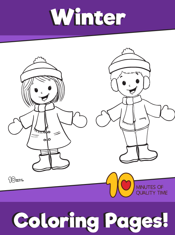 coloring pages of winter season