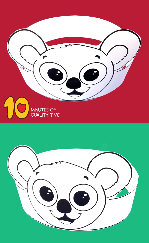 Koala Paper Crown 10 Minutes of Quality Time