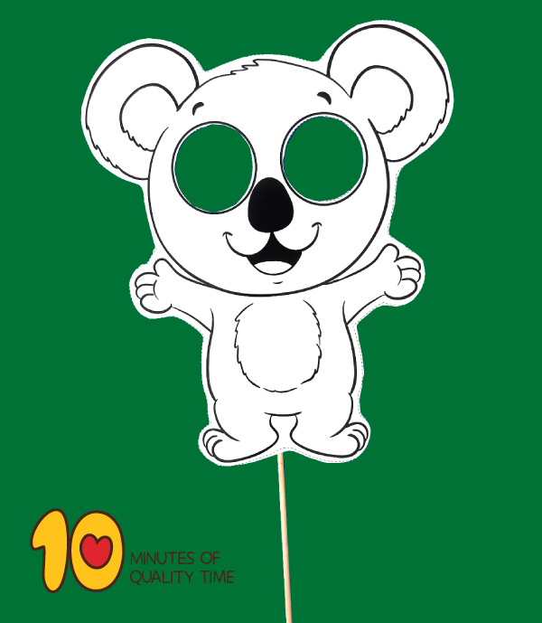 koala bear craft template
