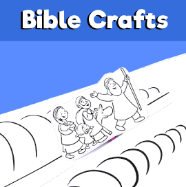 Moses and the Red Sea Printable Craft