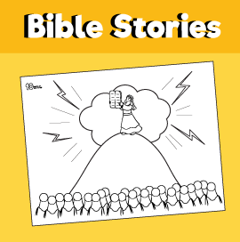 Moses and the Ten Commandment Coloring Page