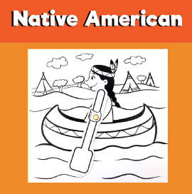 Native American Boat in River Craft