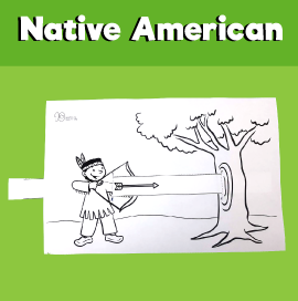 Native American Bow and Arrow Printable Craft