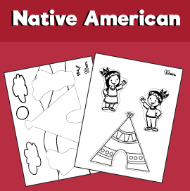 Native American Cat and Paste Worksheet