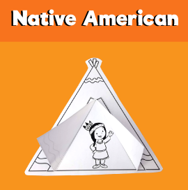 Native American Girl in Tent Craft