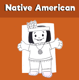 Native American Hand Puppet Printable