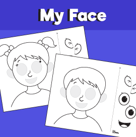 Parts of the Face Cut and Paste worksheet