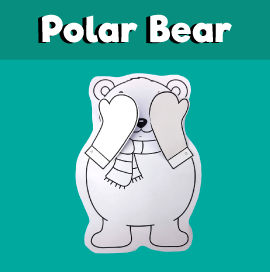 Peekaboo Polar Bear craft