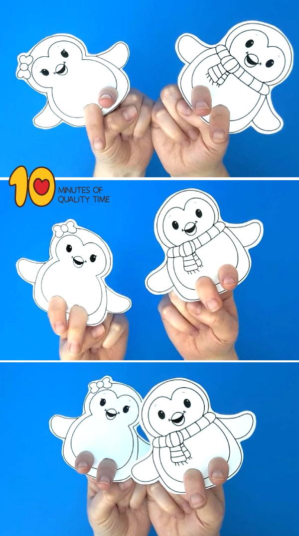 penguin finger puppet pattern