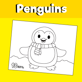 Penguin Free Coloring Page