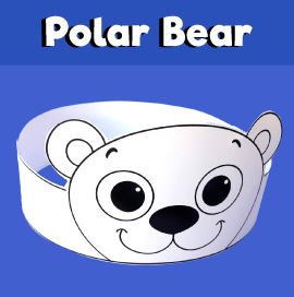 Polar Bear Crown Printable