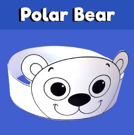 Polar Bear Crown Printable
