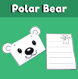 Polar Bear Envelope Printable Template