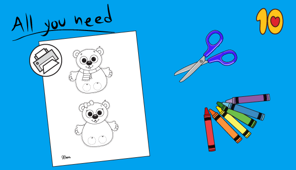 polar bear craft printable