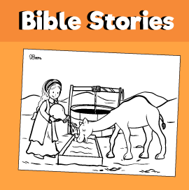 Rebecca and the Camel Test Coloring Page