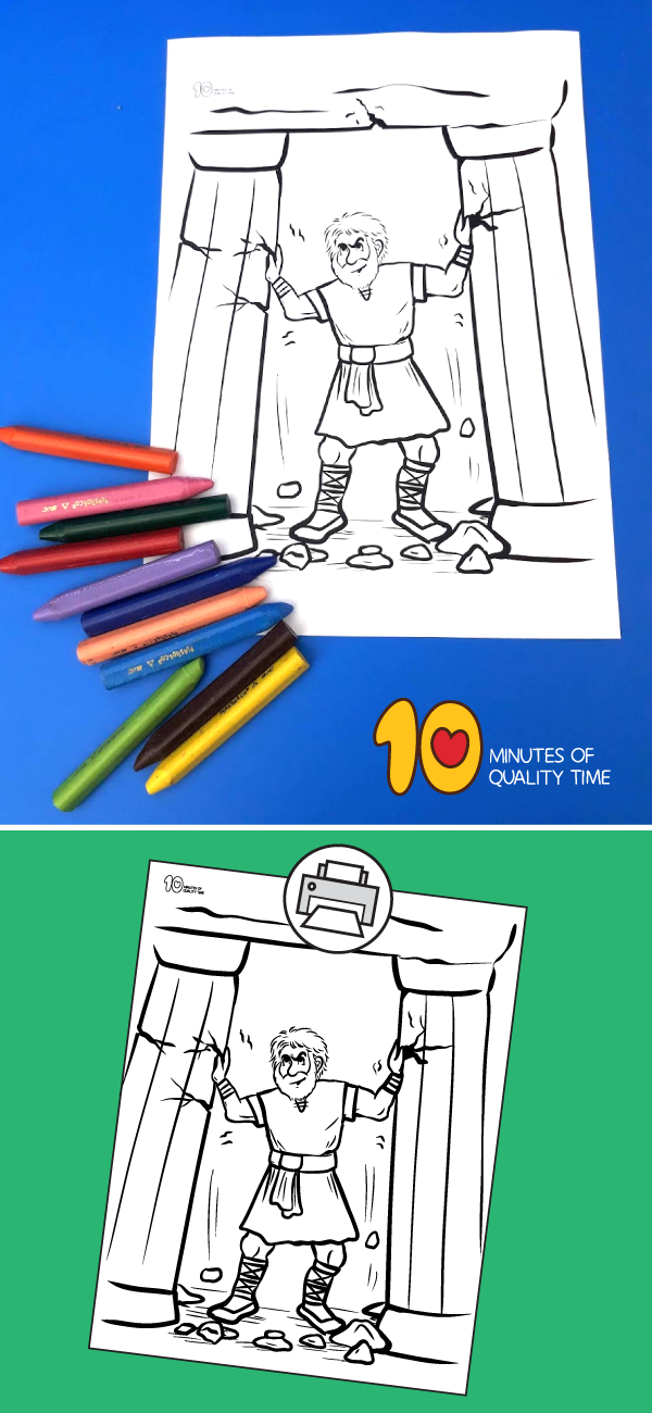 Samson Coloring Page 10 Minutes of Quality Time