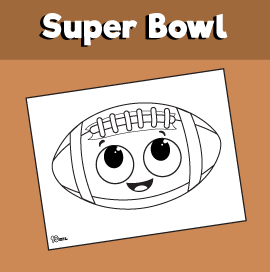 Super Bowl Coloring Sheet