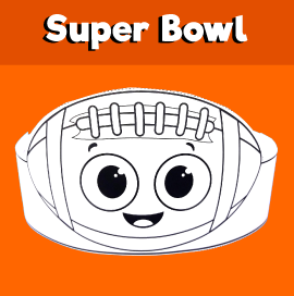 Super Bowl Paper Hat