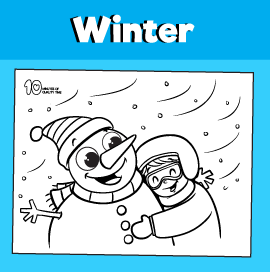 Winter free Coloring Pages