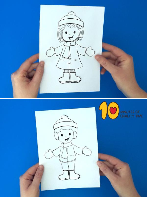 winter clothes craft for preschoolers