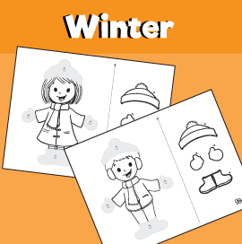 Winter Cut and Paste Worksheets